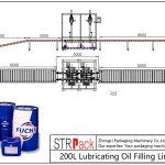 Automatische 200L smeerolievullijn