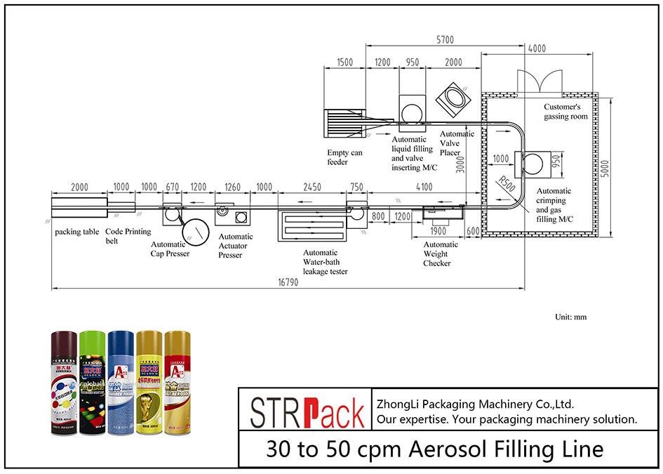 30 tot 50 cpm Aerosol-vullijn