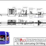 Automatische 5L-30L vullijn voor smeerolie