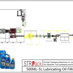 Automatische 500ML-5L smeerolievullijn