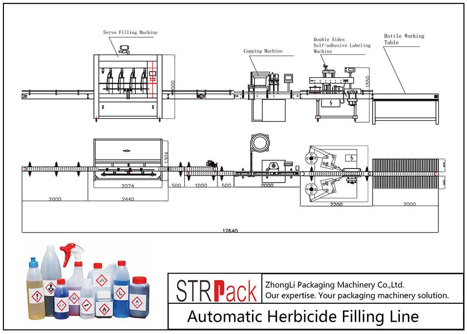 Automatische herbicide-afvullijn