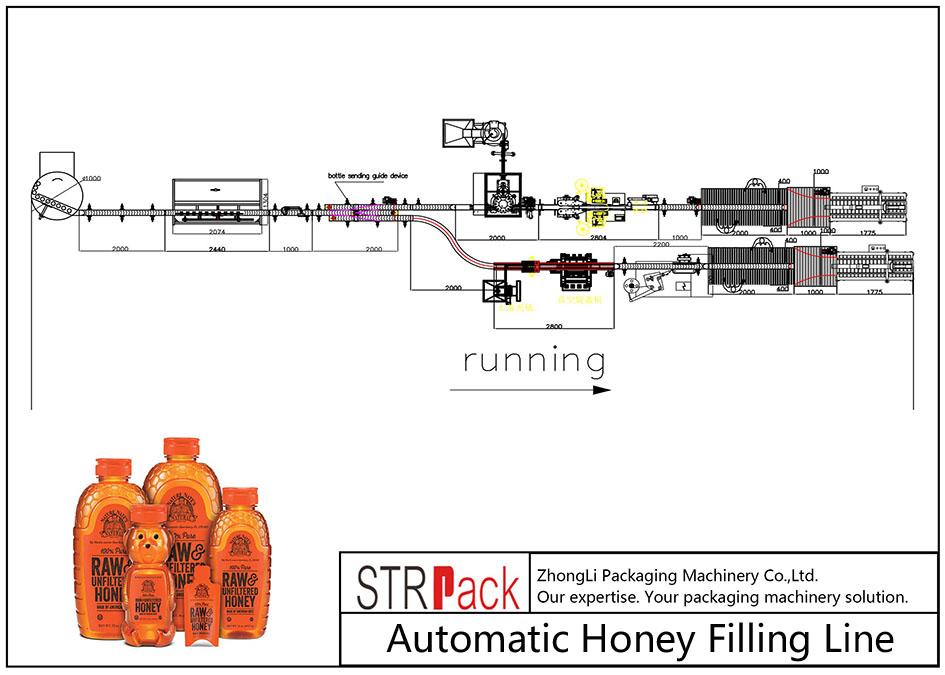 Automatische honingvullijn