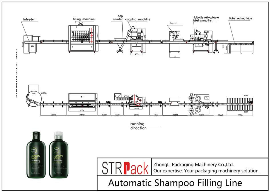 Automatische shampoo-vullijn
