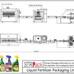 Automatische verpakkingslijn voor vloeibare meststoffen