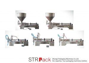 Semi-automatische zuiger vloeistof vulmachine